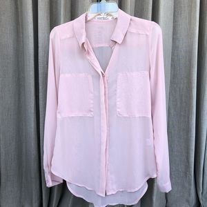 Sophisticated Sheer Pink Bliouse